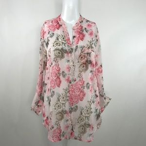 Kut from the Kloth Tops - KUT from the Kloth NWT Jasmine Semi Sheer Floral S